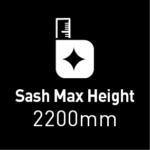 max sash height 2200mm