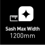 max sash width 1200mm